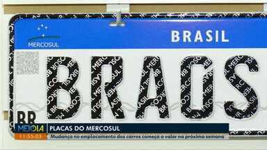 Novo padrão de placas do Mercosul começam a valer na próxima semana - Motoristas estão com dúvidas de como a mudança vai acontecer.