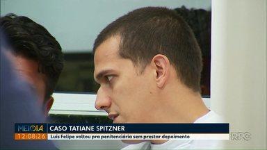 Marido de Tatiane Spitzer volta pra penitenciária sem prestar depoimento - Ele é acusado de matar a esposa Tatiane Spitzner.