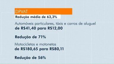 Valor do DPVAT ficará mais barato em 2019 - Redução média será de 63,3%.