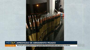 Polícia rodoviária apreende munição para armamento pesado na PR-323 - Policiais tiveram que atirar no veículo para fazer motorista parar