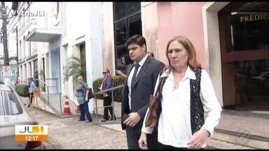 Hélio Gueiros Neto presta depoimento na Vara Criminal de Belém - Ele é acusado de ter assassinado a esposa Renata Cardim