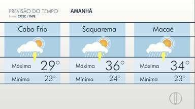 Confira a previsão do tempo para o interior do Rio - Assista a seguir.