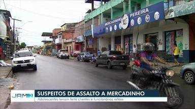 Trio é apreendido suspeito de assalto a mercadinho - Fato ocorreu na zona Leste de Manaus.