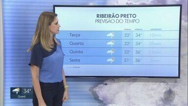 Confira a previsão do tempo para esta terça-feira (18) na região de Ribeirão Preto - Há possibilidade de pancadas de chuva, mas temperatura chega a 34ºC.