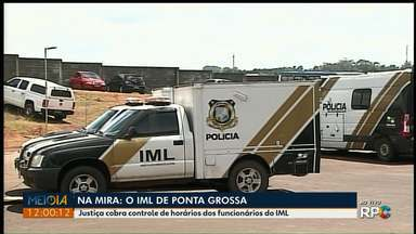 Justiça cobra registro de ponto dos funcionários do IML de Ponta Grossa - Há indícios de descumprimento da carga horária.