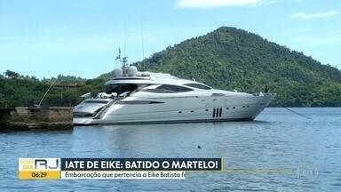Iate apreendido de Eike Batista é leiloado - Lance dado foi menor do que o valor estimado da embarcação.