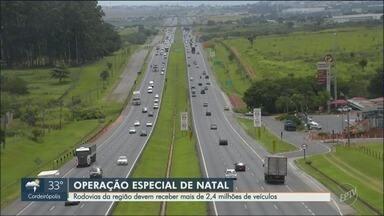 Rodovias da região recebem receber 2,4 milhões de veículos no Natal - Operação especial começa nesta sexta-feira (21).