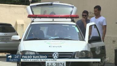 Médico é preso por suspeita de matar a esposa em Campinas - Izael Soares Barbosa teria enforcado a mulher com um fio de energia.
