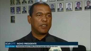 Policial Madril, PMN, fica na presidência da Câmara até o fim do ano - Gugu Bueno, PR, substitui Leonaldo Paranhos até o dia 23 de dezembro. O prefeito está afastado para cuidar da saúde.