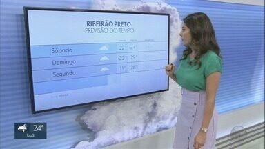 Veja a previsão do tempo na região de Ribeirão Preto - Termômetros marcam máxima de 34 graus