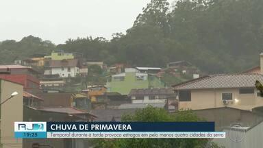 Temporal provoca estragos em pelos menos quatro cidades da Serra - Assista a seguir.