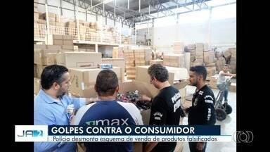 Polícia Civil divulga golpes contra o consumidor em Goiânia - Brinquedos falsificados e jogo de panelas estão entre os produtos do crime.