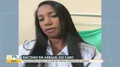 Turista chilena é presa acusada de racismo, em Arraial do Cabo - Enfermeira de hospital da cidade (foto) disse que foi chamada de macaca, em inglês.