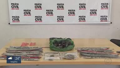 Homem suspeito de arrombar carros em BH é preso - Delegada disse que com o suspeito, os policiais encontraram ferramentas, lacres e tarjetas de placas de veículos, dois notebooks, uma prancha, instrumentos musicais, duas porções de maconha e R$ 3 mil.