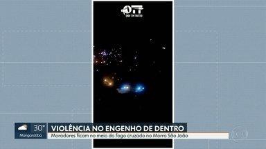 Moradores da favela Santa Marta amanhecem com tiroteio - Tiros também no Morrro São João, no Engenho de Dentro.
