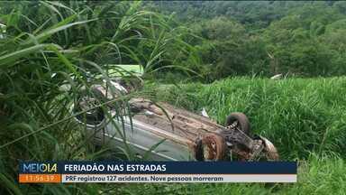 PRF registra 127 acidentes nas rodovias federais do Paraná no feriado de Natal - Nove pessoas morreram. O excesso de velocidade foi a infração mais comum.