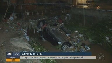 Bombeiros retomam buscas a homem desaparecido durante chuva em Santa Luzia, MG - Bombeiros retomam buscas a homem desaparecido durante chuva em Santa Luzia, MG