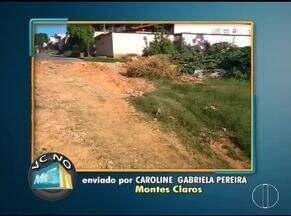 VC no MG: Moradores de Montes Claros e Espinosa enviam denúncia - No Bairro Monte Carmelo, moradora cobra limpeza de rua.