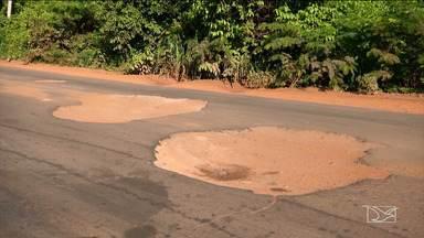 Período chuvoso piora infraestrutura de MA-034 em Caxias - Período chuvoso piora a situação da estrada colocando em risco a vida de motoristas.