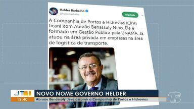 Governador Helder Barbalho anuncia novo comando da Companhia de Portos e Hidrovias do Pará - Nome de Abrãao Benassuly Neto foi anunciado através das redes sociais.
