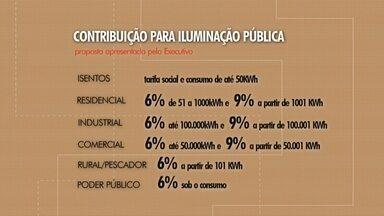Prefeitura de Rio Grande apresenta projeto de contribuição para iluminação pública - Executivo sugere cobrança de taxa para melhorar pontos de iluminação pública na cidade. Percentual varia de acordo com categorias de consumidores.