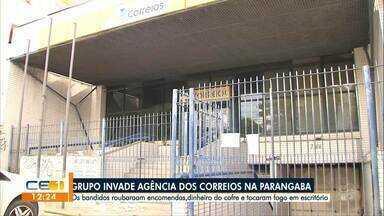 Bandidos roubam agência dos Correios na Parangaba - Confira outras notícias no g1.globo/ce