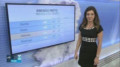 Confira a previsão do tempo para a região de Ribeirão Preto - Áreas de instabilidade aumentam expectativa de mais chuvas.