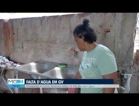 Moradores estão sem água há três dias em bairro de Valadares - Moradores do Bairro Santa Terezinha reclamam da situação.
