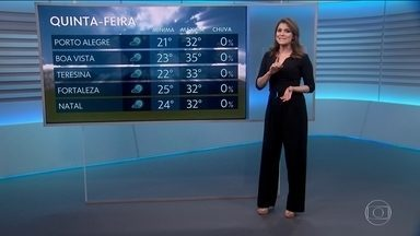 Veja como fica a previsão do tempo para os próximos dias - Eliana Marques mostra onde o tempo fica firme e previsão de tempestades.
