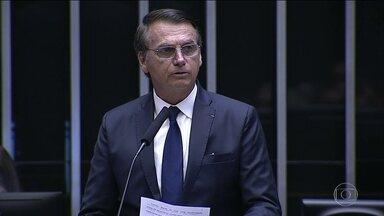 Jair Bolsonaro promete construir uma sociedade sem divisões e discriminação - No discurso de posse, o presidente Jair Bolsonaro fez questão de reforçar bandeiras que levantou durante toda sua campanha.