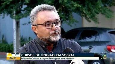 Cursos de línguas são oferecidos em Sobral - Cursos são oferecidos pelo Palácio de Ciências e Línguas