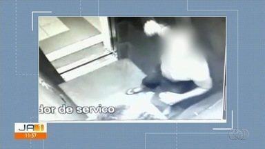 Mulher filmada sendo agredida com socos e tapas em elevador ainda está com hematomas - Segundo investigadora, marido dela, gravado a agredindo, deve prestar depoimento nesta quinta-feira. Polícia orientou mulher a pedir medida protetiva.