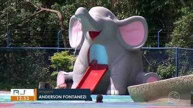 Aumenta número de banhistas no parque aquático municipal de Volta Redonda - Famílias e crianças tem aproveitado as altas temperaturas do verão.
