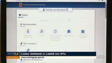 IPTU de 2019 começa a ser distribuído em Maringá - Você também emitir a guia para o pagamento pela internet; veja o passo a passo