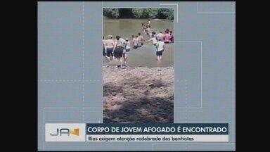 Bombeiros encontram corpo de adolescente que morreu afogado no Oeste - Bombeiros encontram corpo de adolescente que morreu afogado no Oeste