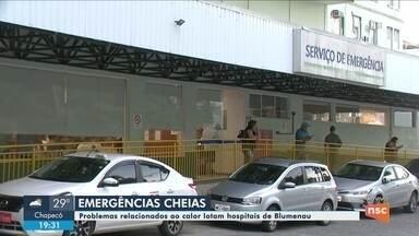 Hospitais de Blumenau registram aumento de pacientes por causa do calor - Hospitais de Blumenau registram aumento de pacientes por causa do calor