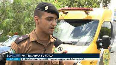 Policial Militar tem arma furtada de dentro de casa em Foz - Os ladrões também levaram munições.