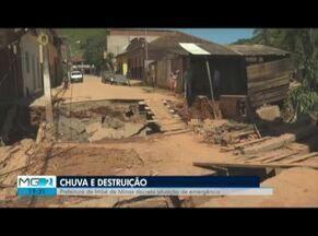 Comitê de gestão de crise é montado para avaliar estragos em Imbé de Minas - Tempestade atingiu cidade na segunda-feira.