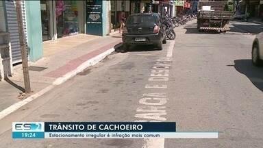 Estacionamento irregular é a infração mais frequente no trânsito de Cachoeiro, ES - Mais de 4,7 mil motoristas foram multados na cidade em 2018.