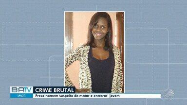 Polícia apresenta suspeito de matar jovem de 23 anos em Salvador - Ela tinha desaparecido no domingo, quando voltava do trabalho, e foi encontrada em Itapuã.
