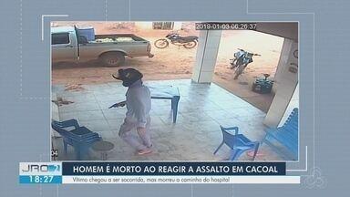 Homem é morto ao reagir a assalto em Cacoal - Vítima chegou a ser socorrida, mas morreu no local.