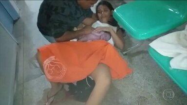 Duas famílias do Amazonas ainda tentam se recuperar do susto que passaram no fim de 2018 - Mulheres deram à luz em maternidade com ajuda de parentes.