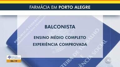 Empregos: farmácia de Porto Alegre seleciona balconista - Veja mais detalhes.