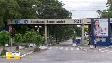 Polêmica envolvendo a demissão de funcionários da fundação Santo André - 35 professores foram comunicados do desligamento por telegrama. A fundação alega que eles não foram aprovados em concuros público.