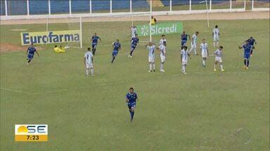 Confiança empata com Londrina em estreia pela Copa SP; veja! - Aos 42 do segundo tempo, Yuan marca gol de falta para o Dragãozinho.