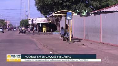 Falta de estrutura nas paradas de ônibus em Porto Velho é alvo de reclamações - Prefeitura diz que já há projeto de estruturação das paradas.