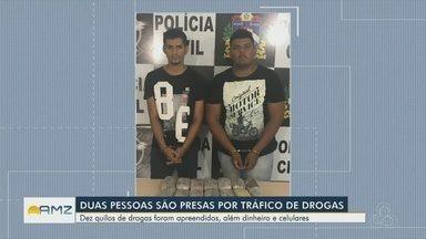 Operação contra o narcotráfico prende dois homens em Boa Vista - Foram apreendidas drogas, celulares e arma falsa