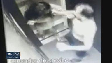 Homem que agrediu mulher em Valparaíso é preso - Alessandro Ribeiro Oliveira, de 31 anos, prestou depoimento na delegacia da cidade e foi preso pelas agressões cometidas na semana passada. Ele bateu na mulher dele, dentro do elevador do prédio onde moram, e foi flagrado pelas câmeras de segurança.
