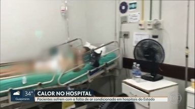 Pacientes enfrentam calorão dentro de hospitais estaduais - Aparelhos de ar condicionado nas enfermarias do Hospital Carlos Chagas e do Hospital Getúlio Vargas estão quebrados