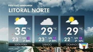 Pode chover a qualquer momento do dia neste sexta - Veja na previsão do tempo.